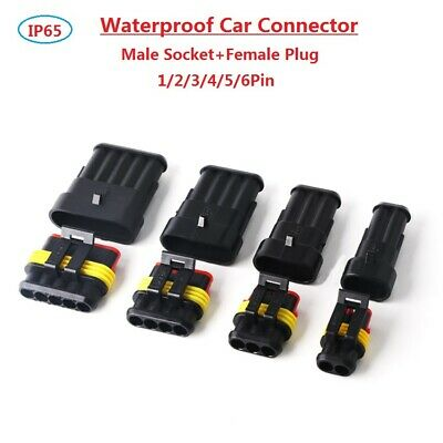 352Pcs 1//2//3//4 Pin Way Car Auto Sealed Waterproof Electrical Wire Connector Plug