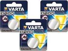 4 x Batterien orginal Blister Varta CR2025  2025 bis 2025