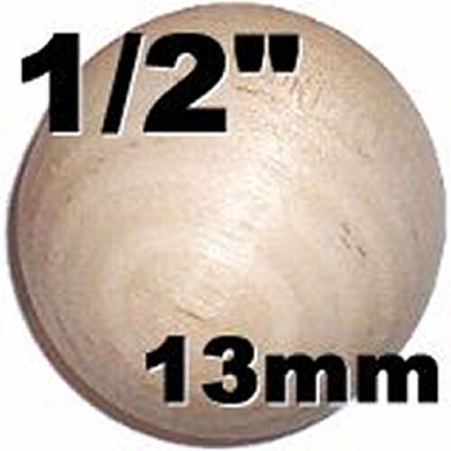 1/2'' Round Wooden BALL   crafts projects dollhouses  50pc lots 50x