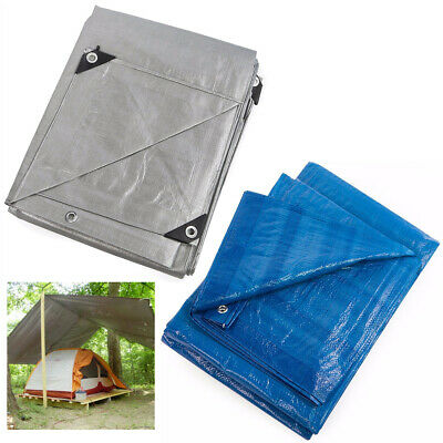Heavy Duty Tarp Poly Canopy Tent Shelter Reinforced Resistant Cover Tarpaulin 8m