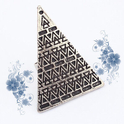 Pop Retro Vintage Punk Pyramid Taper Geometrical Triangle Adjustable Ring Women