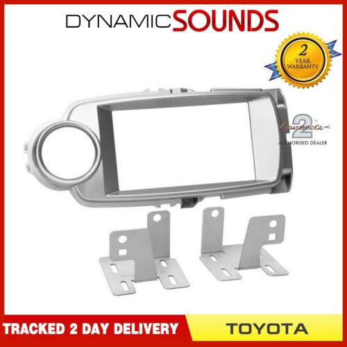 CT23TY58 Double Din Silver fascia panel Adaptateur Kit pour Toyota Yaris 2011 ONWARD