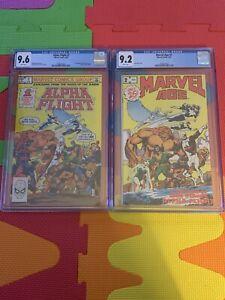 ALPHA-FLIGHT-1-Marvel-Comics-1983-CGC-Graded-9-6-amp-Marvel-Age-2-CGC-9-2