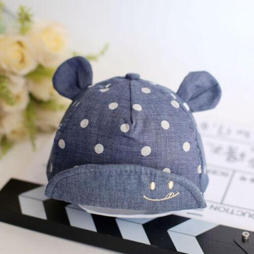 Newborn Baby Girls Kids Summer Infant Sun Cap Cotton Baseball Hat For 3-24Months