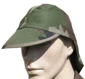 FRENCH ARMY FIELD HAT with NECK PROTECTION in F2 CCE CAMO GENUINE ... a519739ca3cd