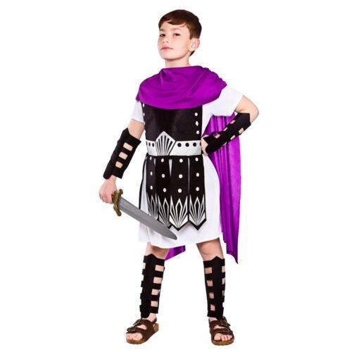 Figlio Romano Centurione Gladiatore Soldato Dell/'esercito Ragazzi Costume M-XL
