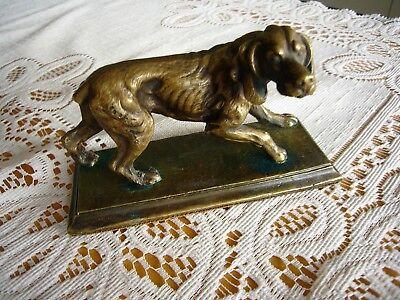 Metallobjekte Nach 1945 Hund Volkskunst Bronze 7,5 X 12 Cm