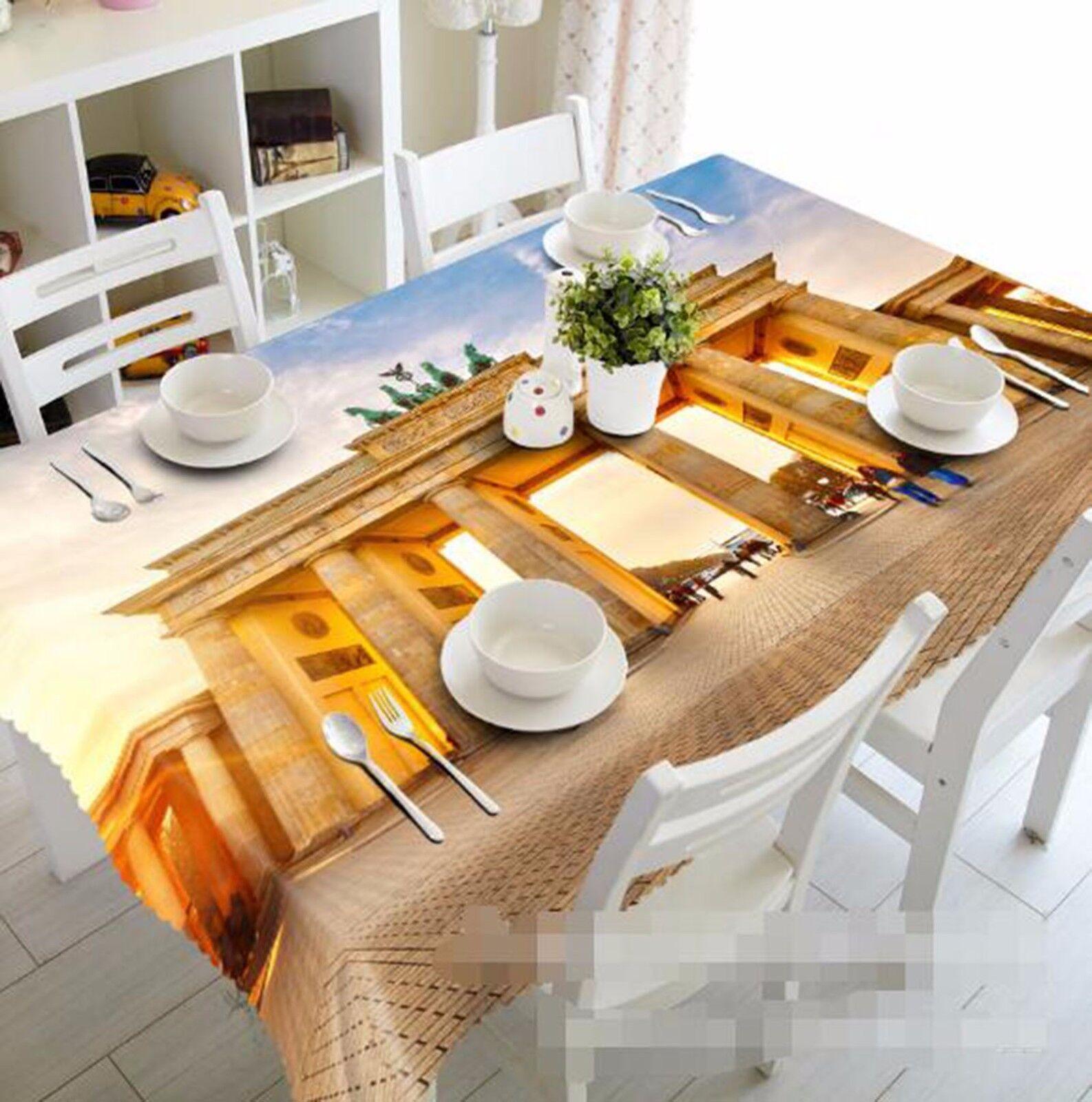 3D Arch 64 Nappe Table Cover Cloth fête d'anniversaire AJ papier peint Royaume-Uni Citron