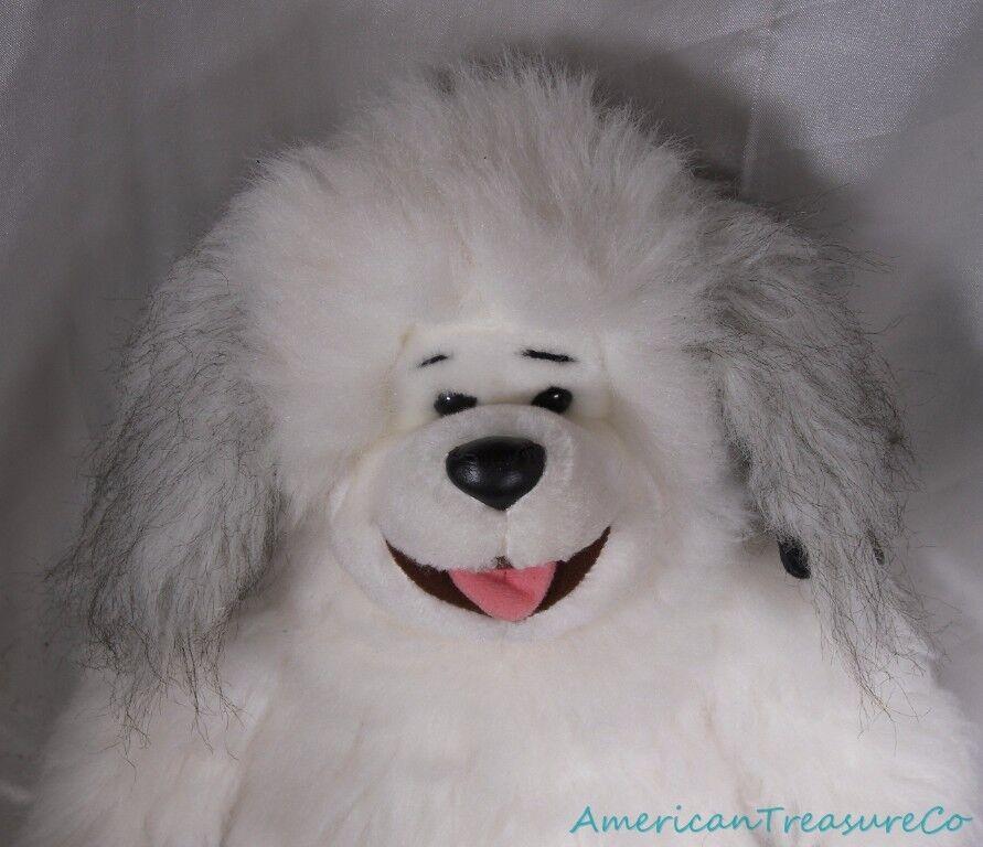 Vintage 90s 1991 Polar Puff 24K Plush 16  Ultra Fluffy Soft Sheepdog Puppy Dog