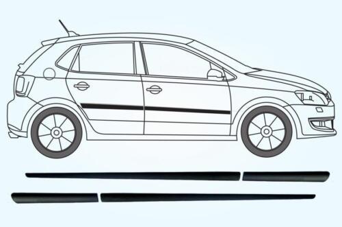set of 4 F5 Universal Door Side Protection Mouldings 99cm + 67cm