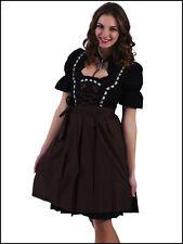 German,Trachten,Oktoberfest,Edelweiss,Dirndl Dress,3-pc.Sz.4,Brown.Embroidered