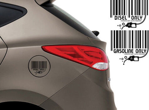 Fuel Decal Gasoline Stickers Black 1P For 08 11 Kia Soul