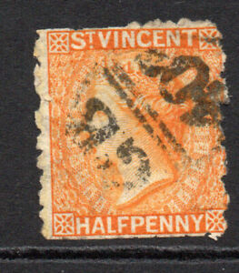 St-Vincent-1-2d-1881-Used-Cut-Stamp-4721