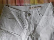 "Women's Ladies 6 DKNY Jeans White Pants Capri Cropped 22"" Inseam NWT Tie Hem"