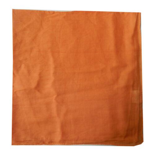 Halstücher 5er Pack 100x100cm hellorange einfarbig PORTOFREI Baumwolle Uni