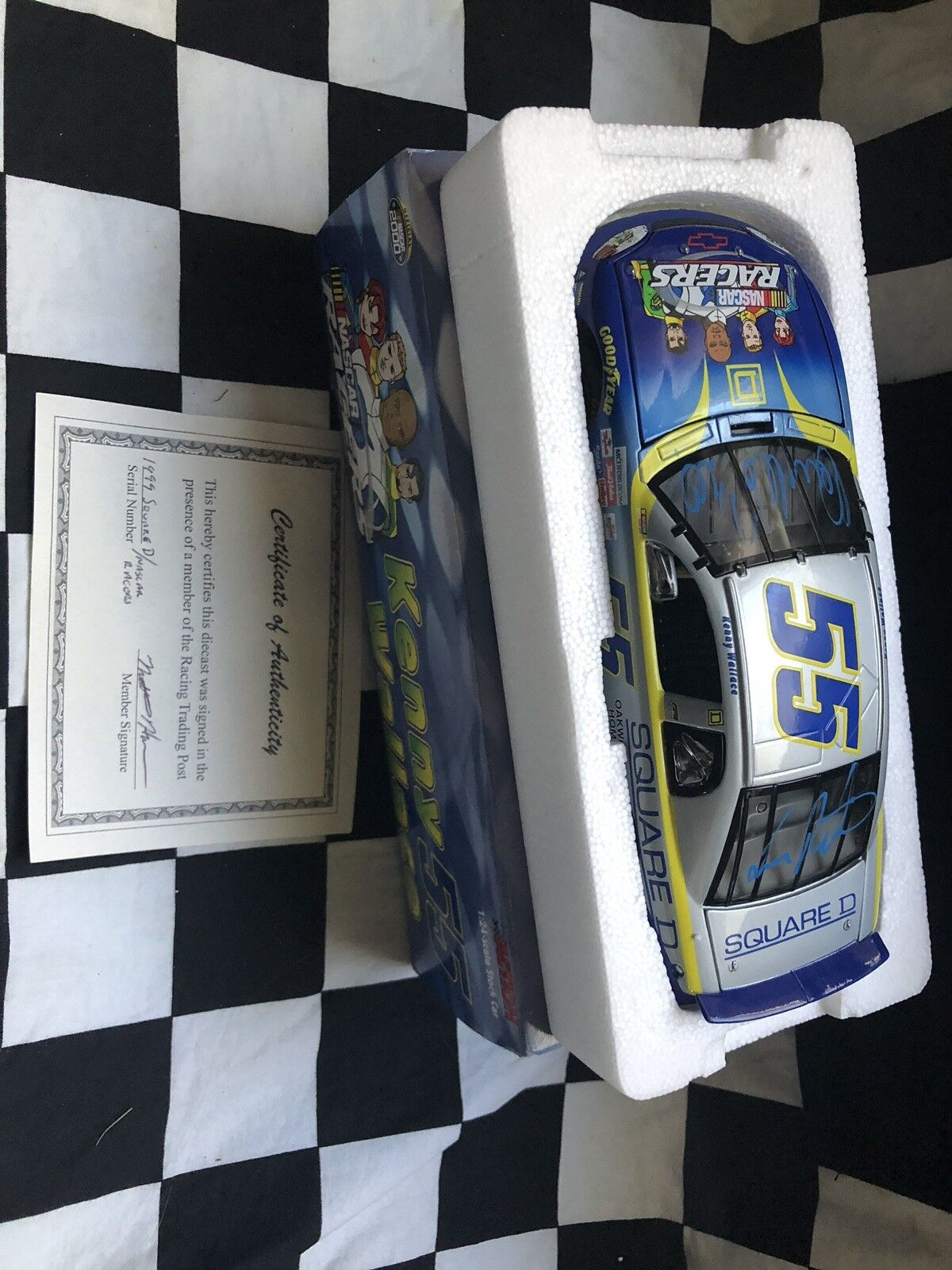 1999 Kenny Wallace Square D  Nascar Racers 1 24 Dual Autographed W COA