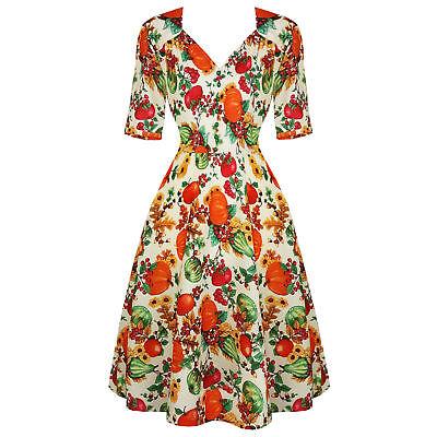 2019 Mode Hell Bunny Harvest Halloween Autumn Pumpkin Retro Vintage 1940s Fancy Dress