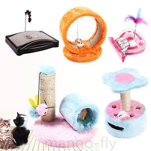 Cat-Tree-Furniture-Scratch-Post-Kitten-Pet-Tease-Stick-Board-Climbing-Play-Toys