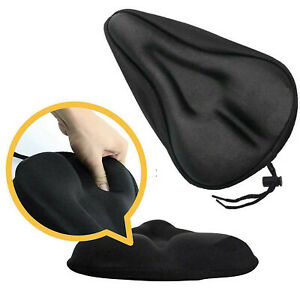 Bike Bicycle Seat Saddle Cover Extra Comfort Padding Soft Gel Cushion Gym
