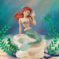 Lenox Disney Princess Ariel The Little Mermaid Figurine Seashell on Rock NEW CoA