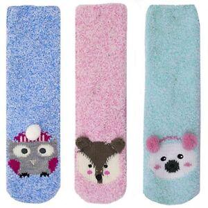Foxbury Ladies Fun Animal 3D Gripper Slipper Socks UK 4-7