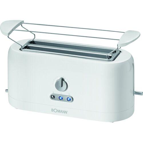 Bomann TA 245 CB Weiss Toaster Krümelschublade 1.400 Watt Stopptaste