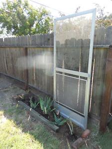 Vintage Aluminum Screen Storm Door Original Hardware Hard to Find