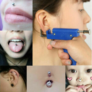 Safety Ear Piercing Gun Set Ear Nose Navel Body Piercing Gun +36 PairEar Studs