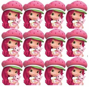 Details About Cake Toppers Strawberry Shortcake Cupcake Toppers Edible Image
