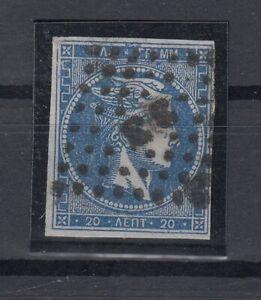 K3695-GREECE-HERMES-MI-13-I-c-USED-CERTIFICATE-CV-550