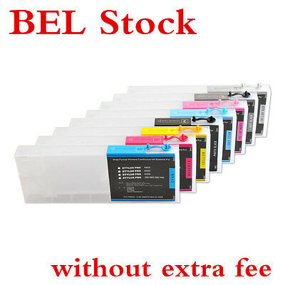 BEL Stock! 8pcs/set Epson Stylus Pro 4880 Refilling Ink Cartridge +4 Funnel