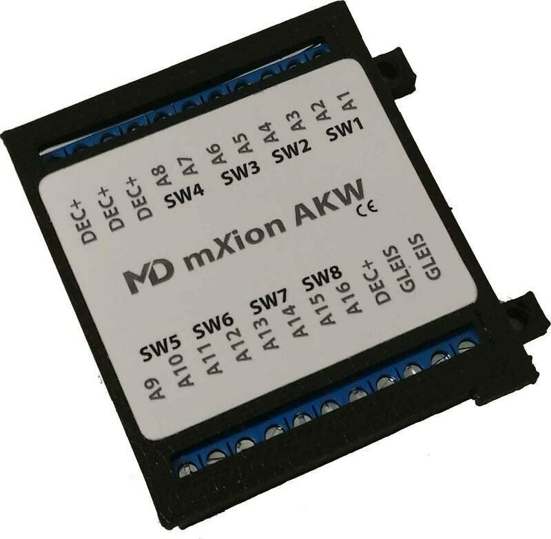 MD AKW  8 fach Weichen   16 fach Funktionsdecoder  Artnr. 4103