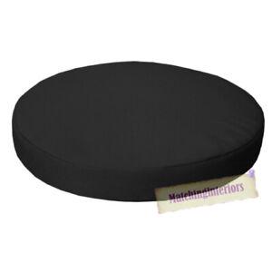 """Ponctuel Noir 13"""" Circulaire Résistant à L'eau Jardin Chaise Dining Bistro Pad Coussin-afficher Le Titre D'origine"""