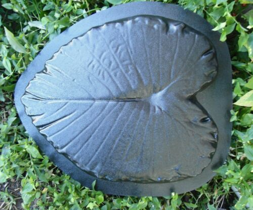 """large leaf stepping stone concrete plaster mold 19/"""" x 16/"""" x 1.5/"""" thick"""