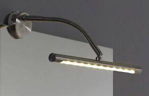 led spiegellampe klemmlampe klemmspot bilderlampe leiste badlampe wd06 b ware ebay. Black Bedroom Furniture Sets. Home Design Ideas