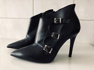 Mai Piu Senza Damen Ankle Boots Stiefeletten Gr. 39 Leder schwarz   eBay a99afeaf24