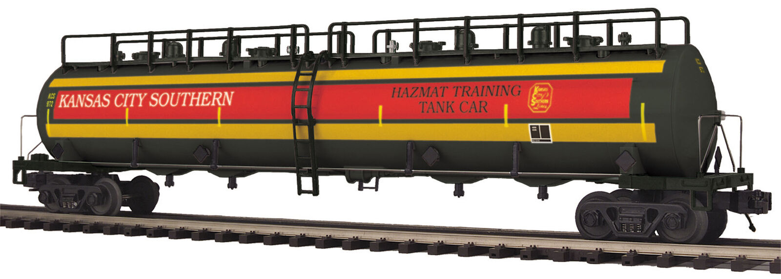 MTH Premier 972 Kansas City Southern 20K Gallon 4-Compartment 4-Compartment 4-Compartment Tank Car 20-96731 f87fd4