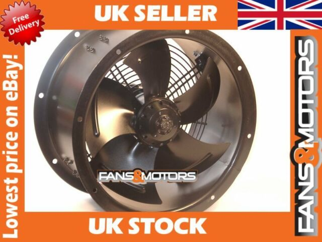 Industrial Duct Fan, Cased Axial Fan, Commercial Kitchen Extract 300mm Blade