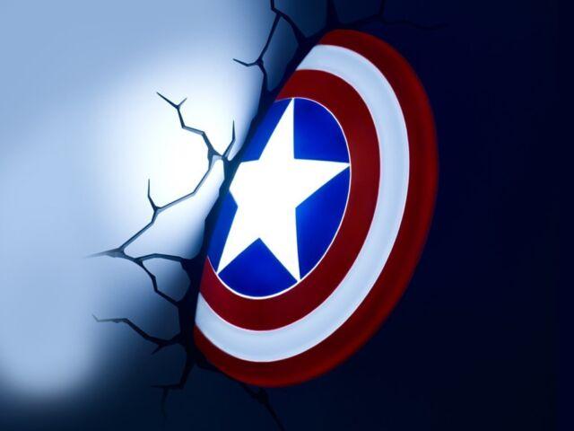 Captain America Shield 3D LED Wall Light