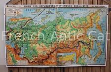 Carte scolaire taille XXL Union des Républiques Soviétiques Socialiste 194*119cm