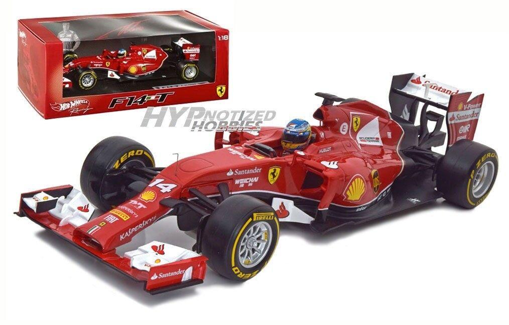 Hot wheels 18 rennen der formel 1 ferrari von fernando alonso f2014 druckguss rot bly67