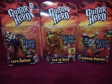 Guitar Hero Figures - Johnny Napalm, Lars Umlaut, and Gold God of Rock