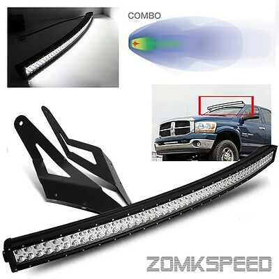 """For 03-09 Ram 2500/3500 54"""" Curved 312W LED Light Bar/Roof Top Mounting Bracket"""