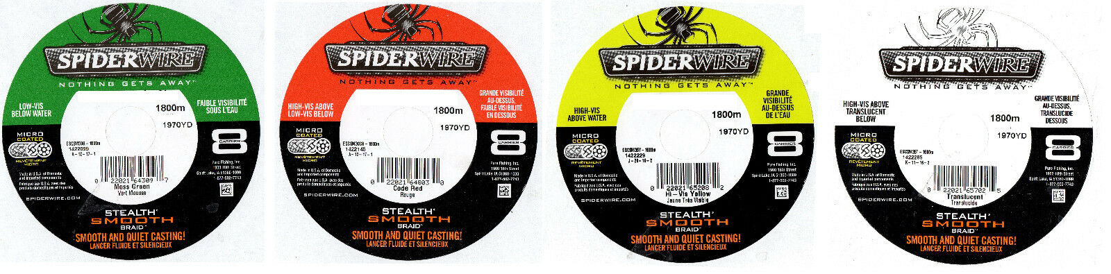 Spiderwire Stealth Smooth 8  Braid 3000m 44lb-108lb Green Red YellowTranslucent  great selection & quick delivery