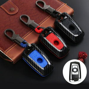 Carbon-Fiber-Car-Remote-Key-Fob-Case-Shell-Cover-For-BMW-1-2-3-4-5-6-7-Series