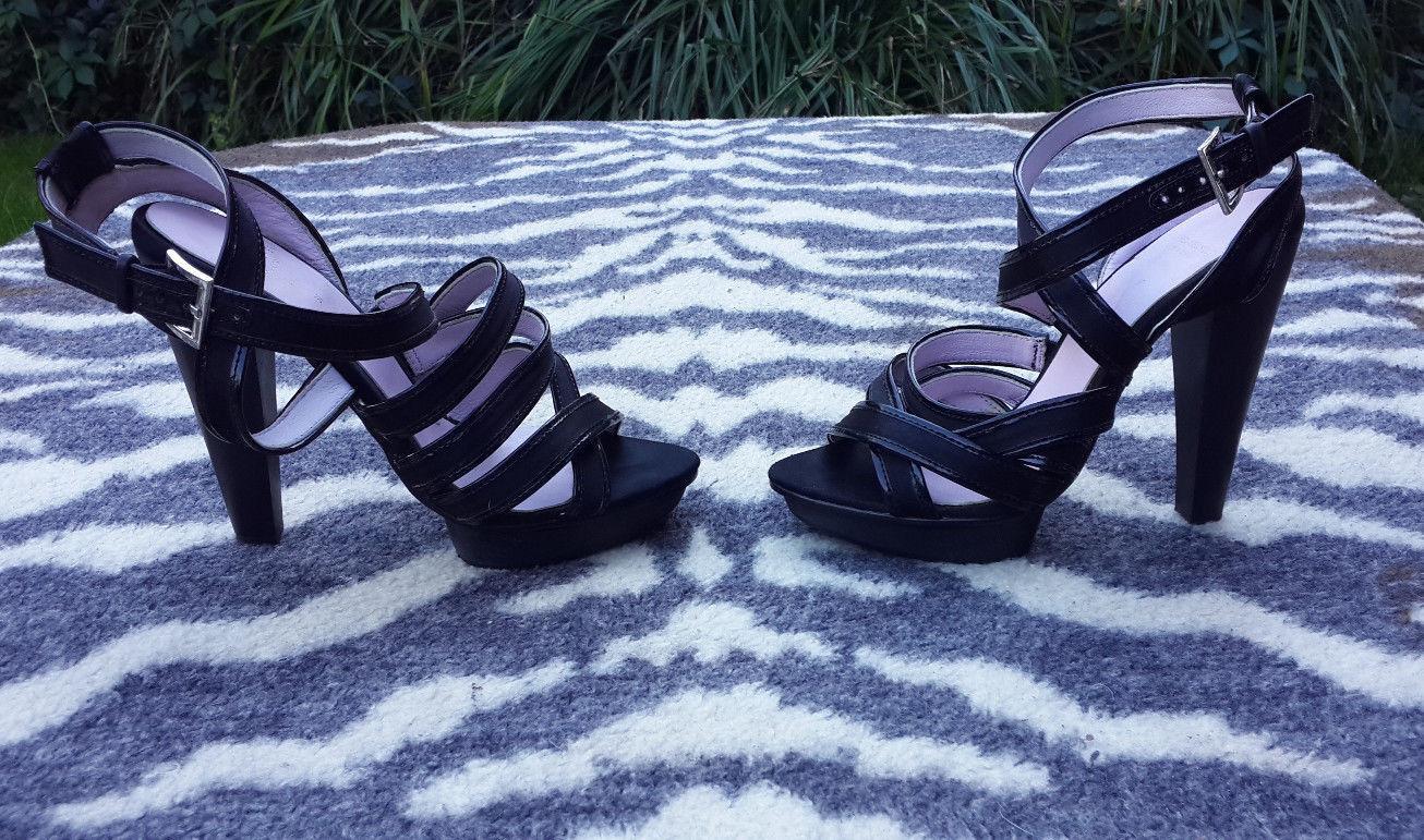DANIEL HECHTER PARIS PLATFORM STRAPPY BLACK Schuhe/SANDALS SIZE SIZE SIZE 37, UK4 f87745