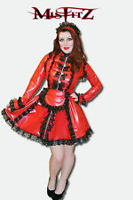 Misfitz red rubber latex strait jacket maids dress sizes 8-32 or made to measure