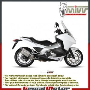 Terminale Scarico Mivv Speed Edge Acciaio Inox Per Honda Integra 700