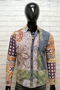 DESIGUAL-Camicia-Vintage-Uomo-Taglia-S-Camicetta-Floreale-T-Shirt-Men-039-s-Hemd