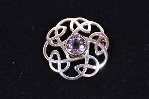 Beautiful Ortak [Orkney Scotland] Celtic Style Sterling Silver Knot Brooch